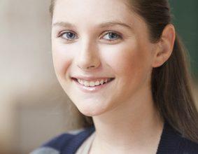 Smiling Caucasian teenage girl